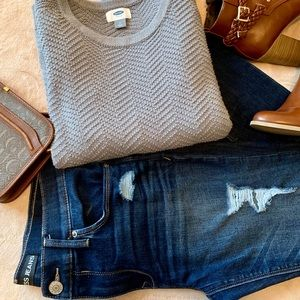 Distressed Express Jeans